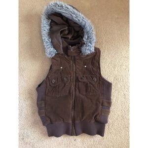 Forever 21 little furry vest